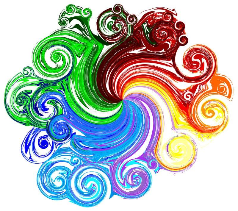 Colorido (inclua trajetos de grampeamento) ilustração royalty free