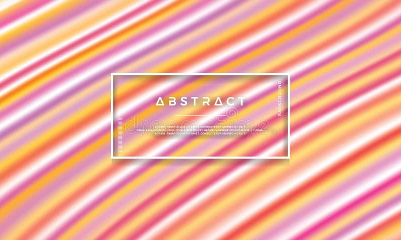Colorido, moderno, fondo del vector del flujo Fondo colorido de la textura libre illustration