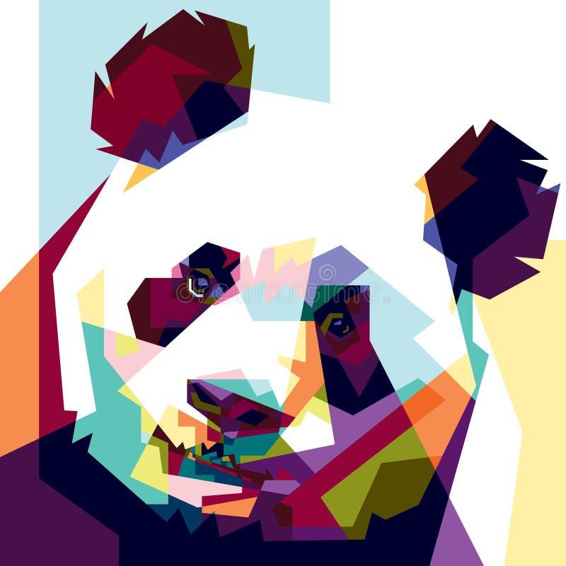 Colorido panda imagenes de archivo