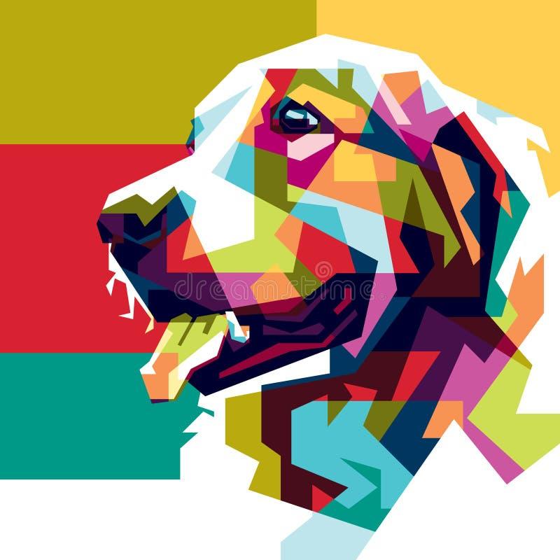 Colorido perro imagen de archivo libre de regalías
