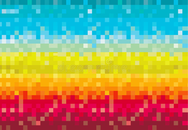 Colorido pixelated imagenes de archivo