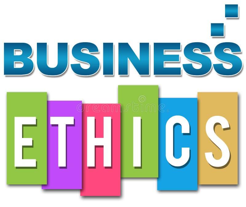 Colorido profesional de la ética empresarial ilustración del vector