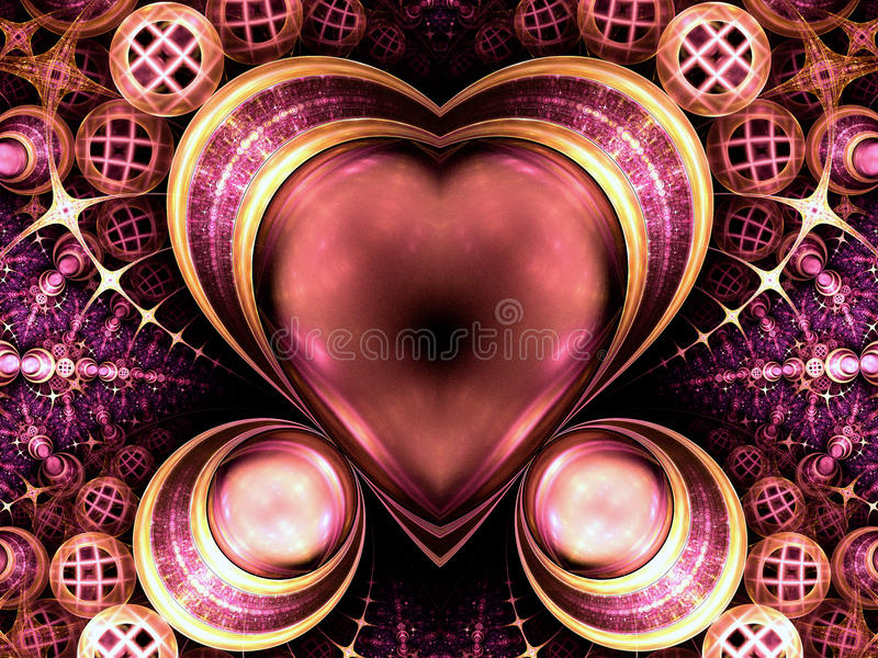 Colorido rico joya-como corazón libre illustration