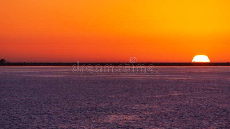 Colorido Tamps o por do sol da baía fotos de stock royalty free
