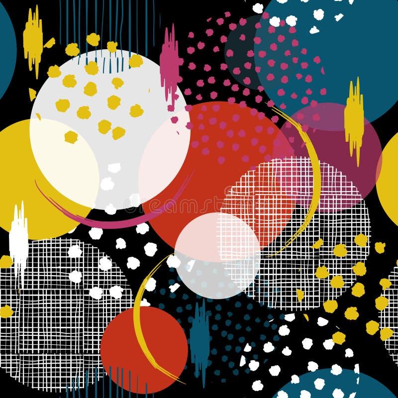 Colorido y diversión inconsútiles muchos modelan en lunares grandes Llene i libre illustration
