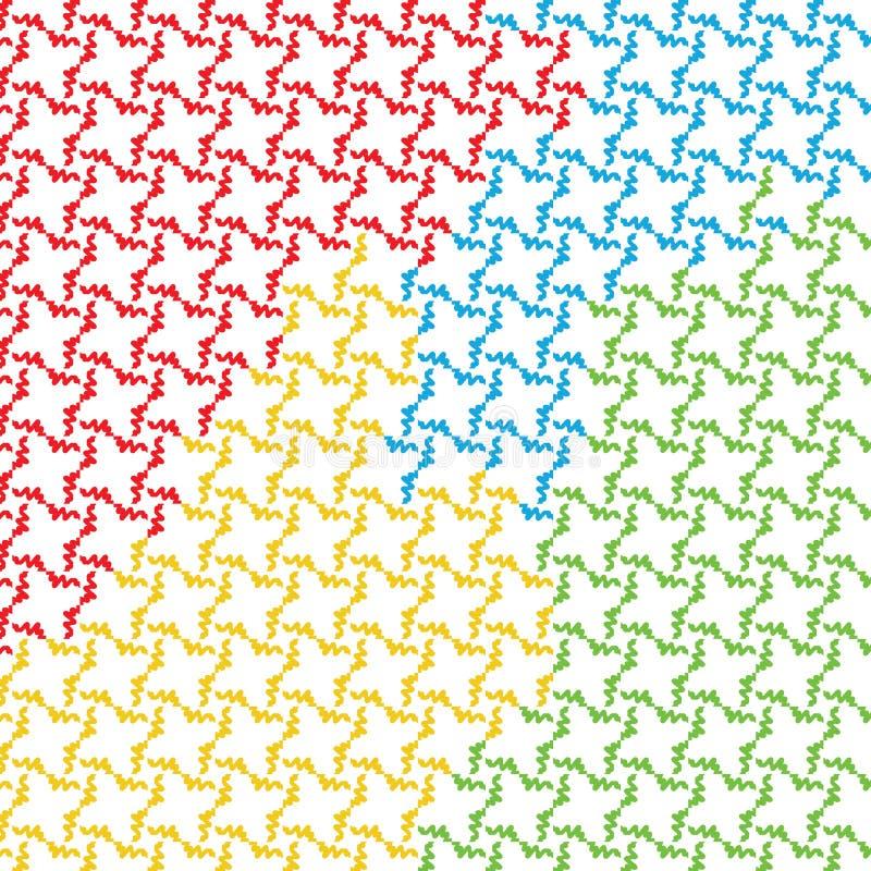 Coloridos abstractos únicos ponen áspero el modelo de la textura stock de ilustración
