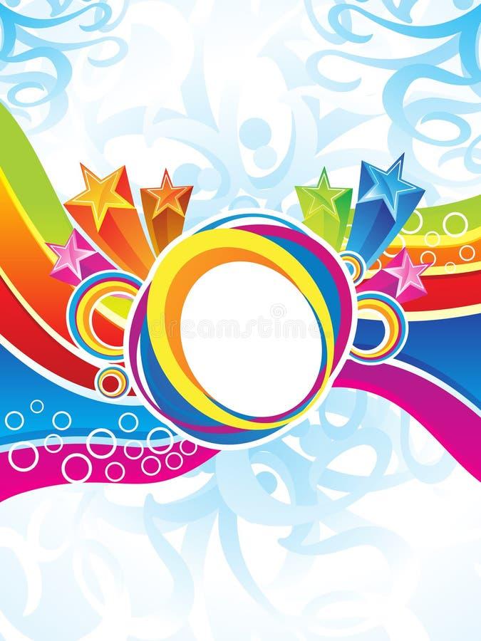 Coloridos artísticos abstractos estallan ilustración del vector