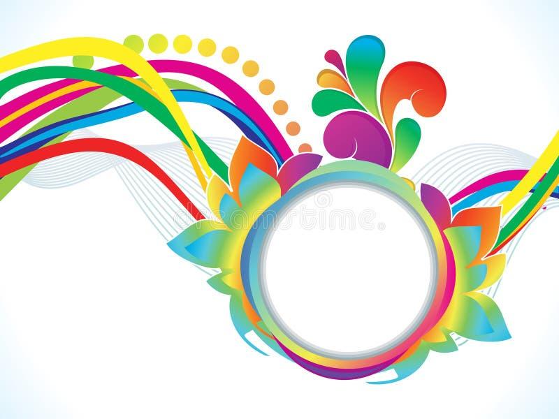 Coloridos artísticos abstractos estallan el fondo stock de ilustración