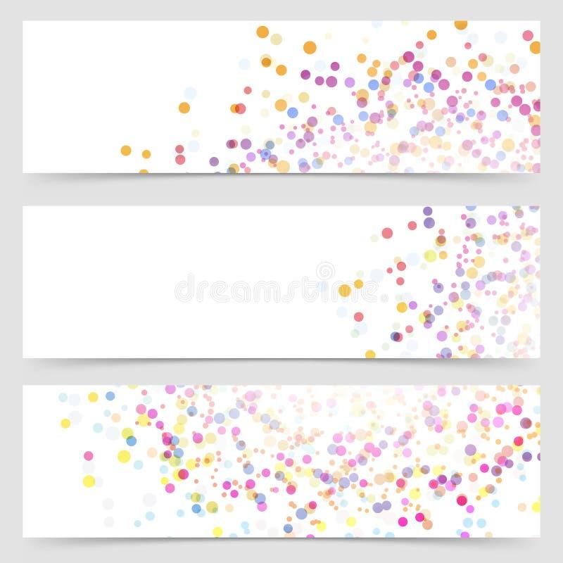 Coloridos brilhantes chapinham o cartão de teste padrão do ponto ilustração royalty free