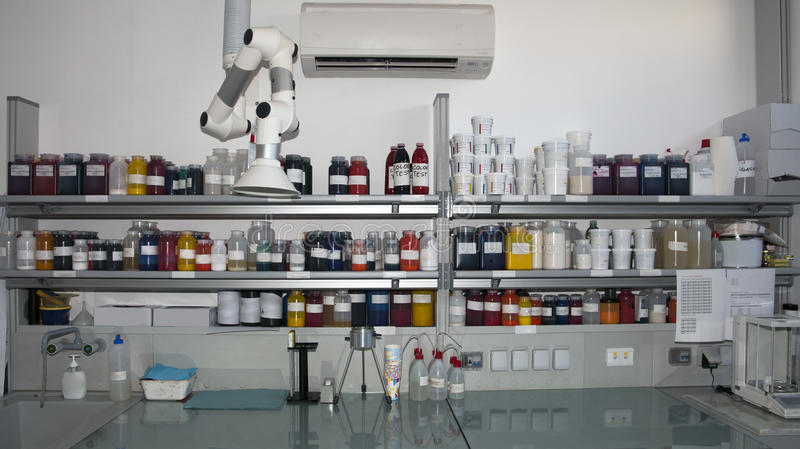 Colorimetry laboratory stock image