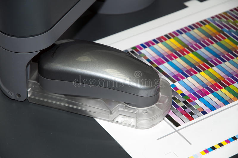 colorimetrylaboratorium arkivbild