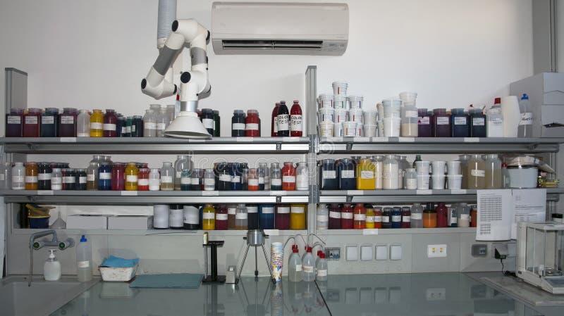colorimetrylaboratorium fotografering för bildbyråer