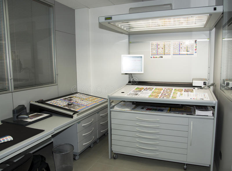 colorimetrylaboratorium royaltyfri fotografi