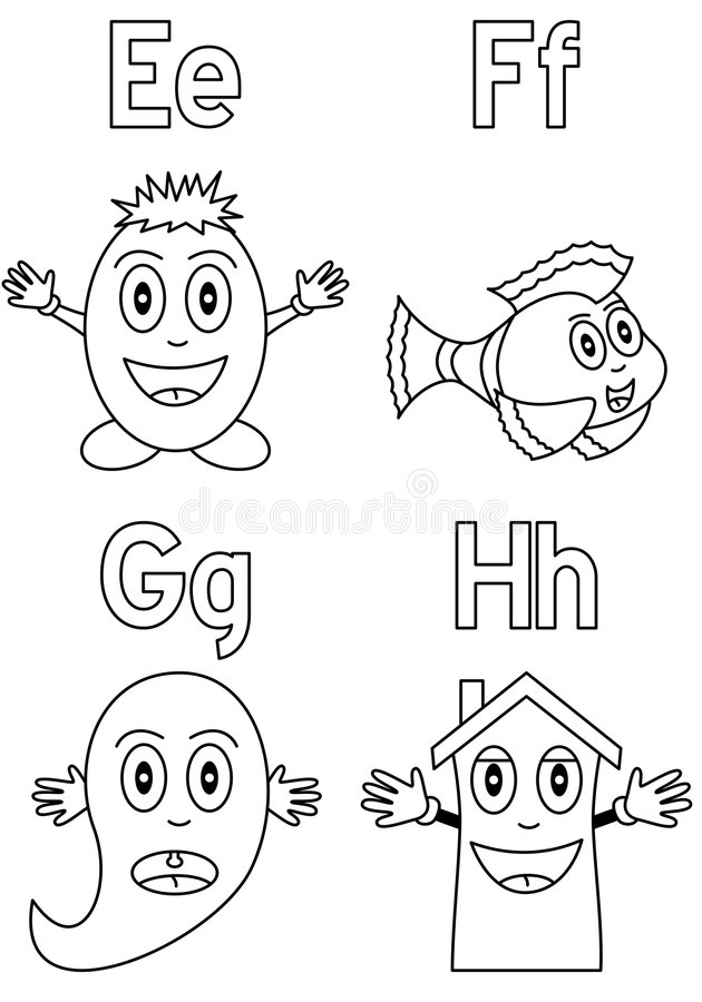 Download Coloring Alphabet For Kids [2] Stock Vector - Image: 8933043