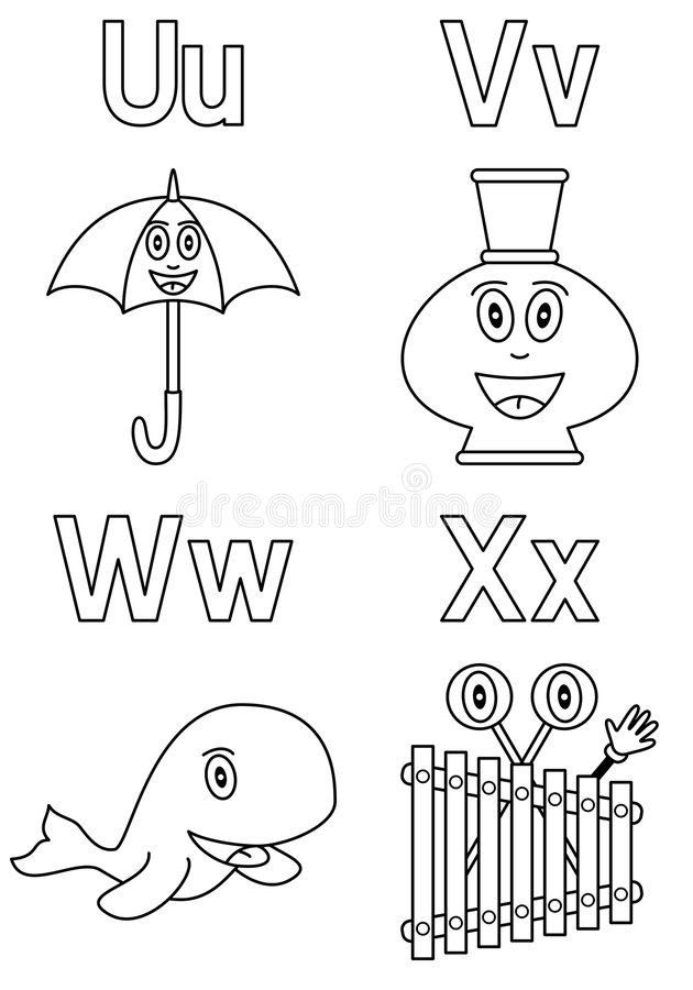Coloring Alphabet For Kids 6 Stock Photography