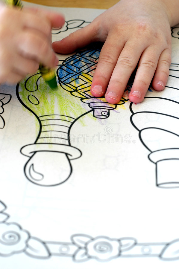 Download Coloring in Book stock photo. Image of young, write, hand - 2028464