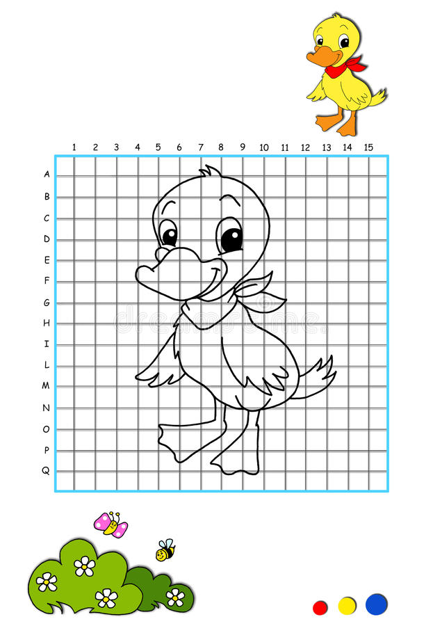 Download Coloring book 7 - duckling stock illustration. Image of artistic - 15018648