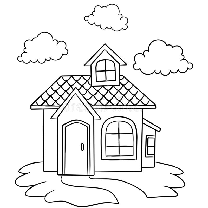 Coloring book for adult and  children. handdrawn vector illustration