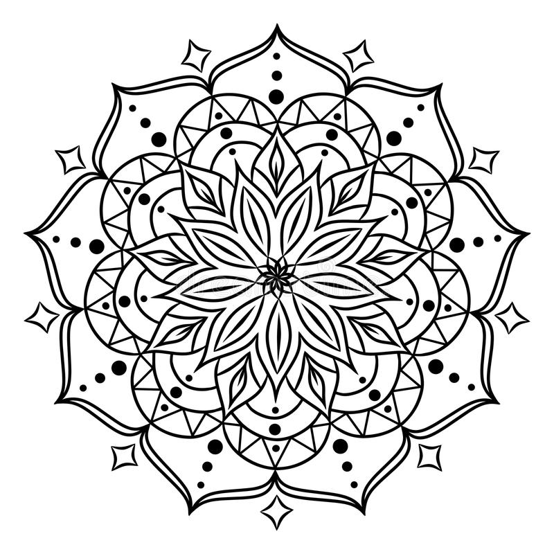 Coloring Book For Adults And Children Round Floral Mandala Element Anti Stress Relaxation Look My Portfolio More