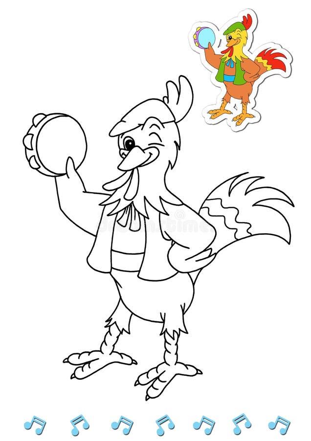 Download Coloring Book Animal Dancers 2 - Rooster Stock Illustration - Illustration of sicilian, artistic: 15031983