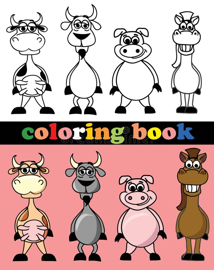 Download Coloring Book Of Animals,vector Stock Vector - Image: 31606898