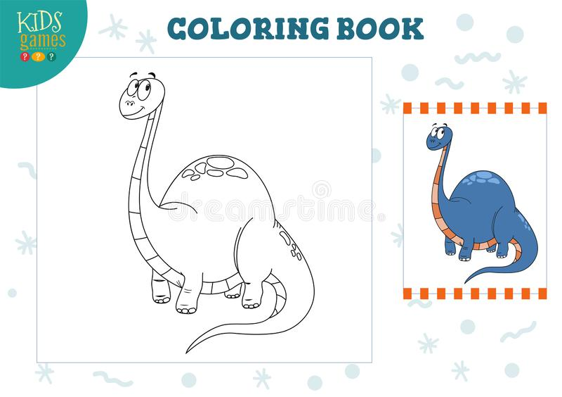 Coloring book, blank page vector illustration. Preschool kids activity royalty free illustration