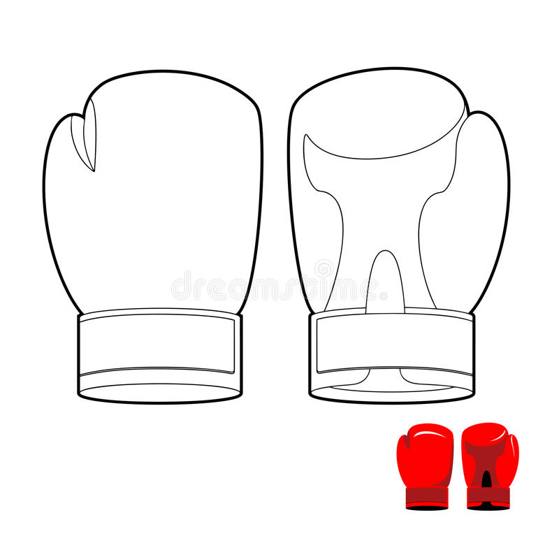 download coloring book of boxing gloves vector illustration sports acces stock vector image