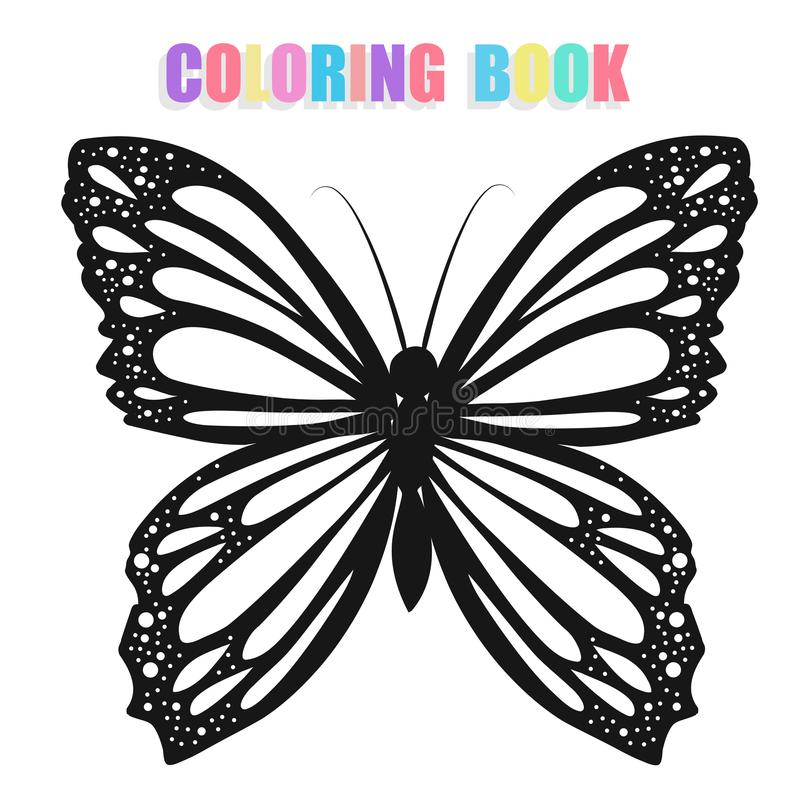 Coloring book with butterflies vector illustration