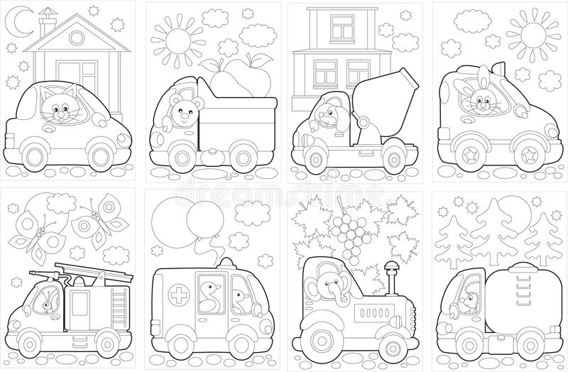 """Coloring book """"Cars"""" vector illustration"""