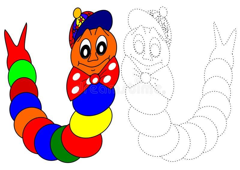 Download Coloring book-caterpillar stock illustration. Image of humor - 22468422