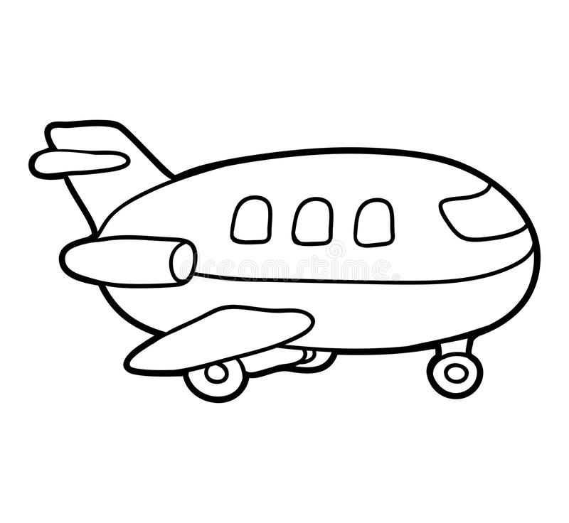 Coloring book, Airplane stock vector. Illustration of coloration ...