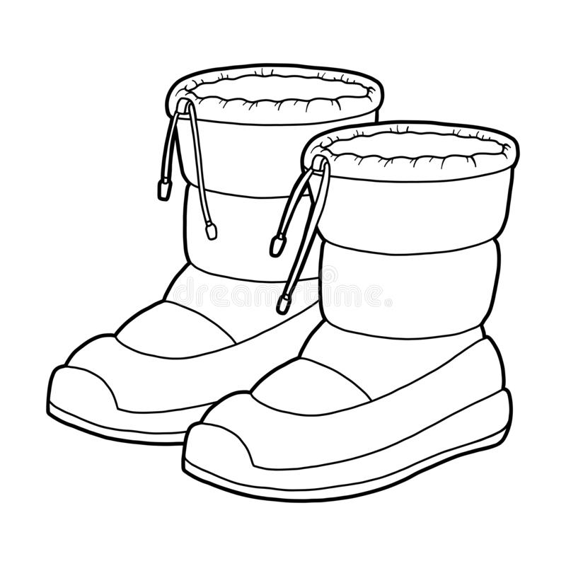 Snow Boots Stock Illustrations – 5,166 Snow Boots Stock ...