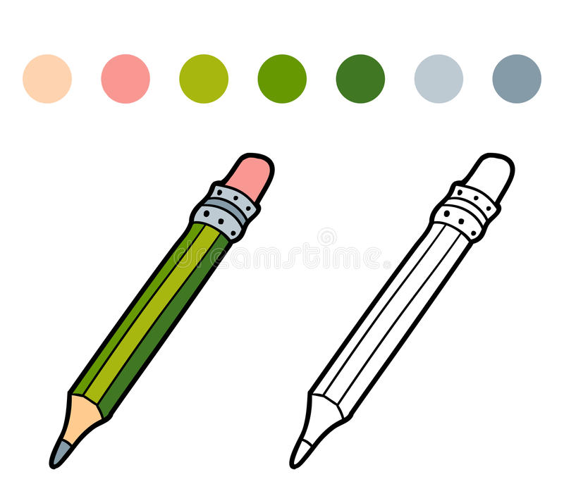 Coloring book for children (color pencil) royalty free illustration