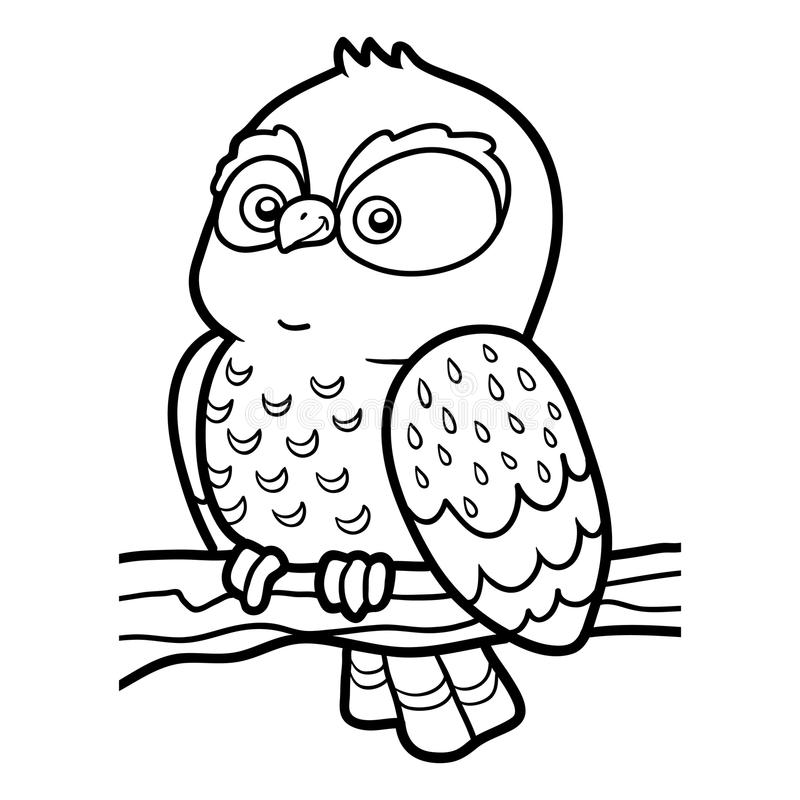 Little Owl Coloring Book - Worksheet & Coloring Pages