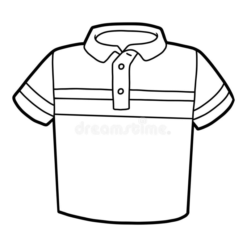 Coloring Book, Polo T-shirt Stock Vector - Illustration of ...