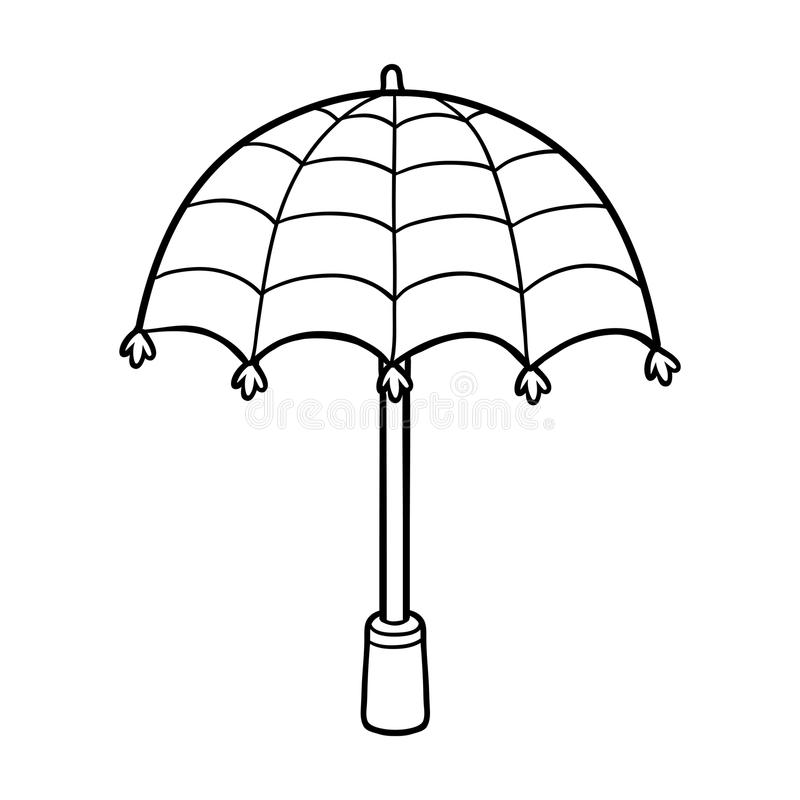 Download Coloring Book For Children Umbrella Stock Vector