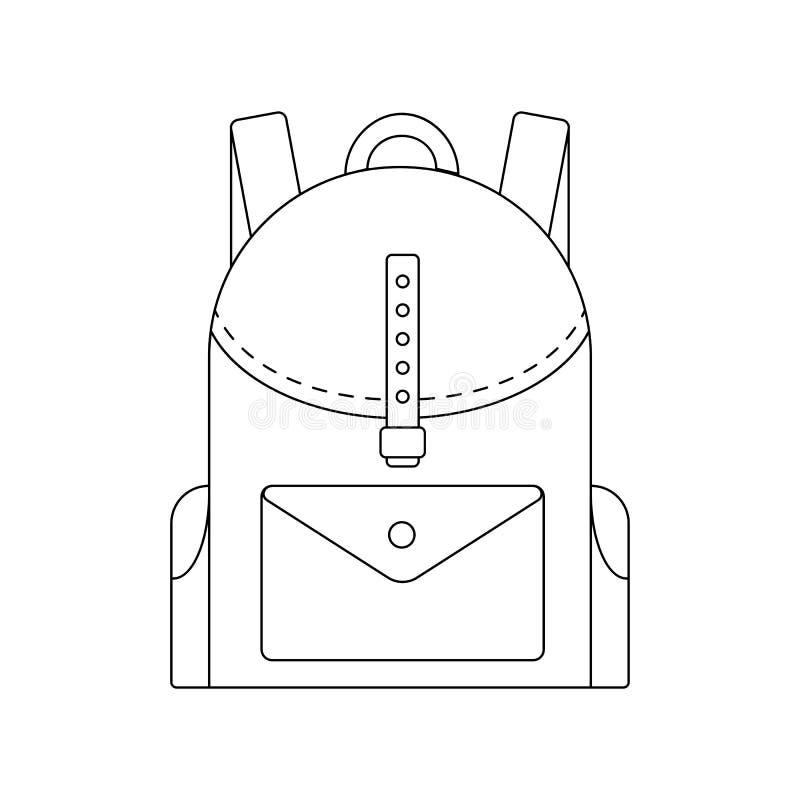 coloring book for children vector school backpack stock