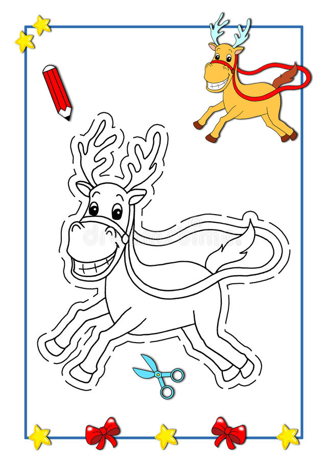 Download Coloring Book Of Christmas 6 Royalty Free Stock Photography - Image: 15364557