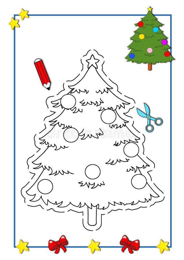 Download Coloring Book Of Christmas 9 Stock Image - Image: 15350001