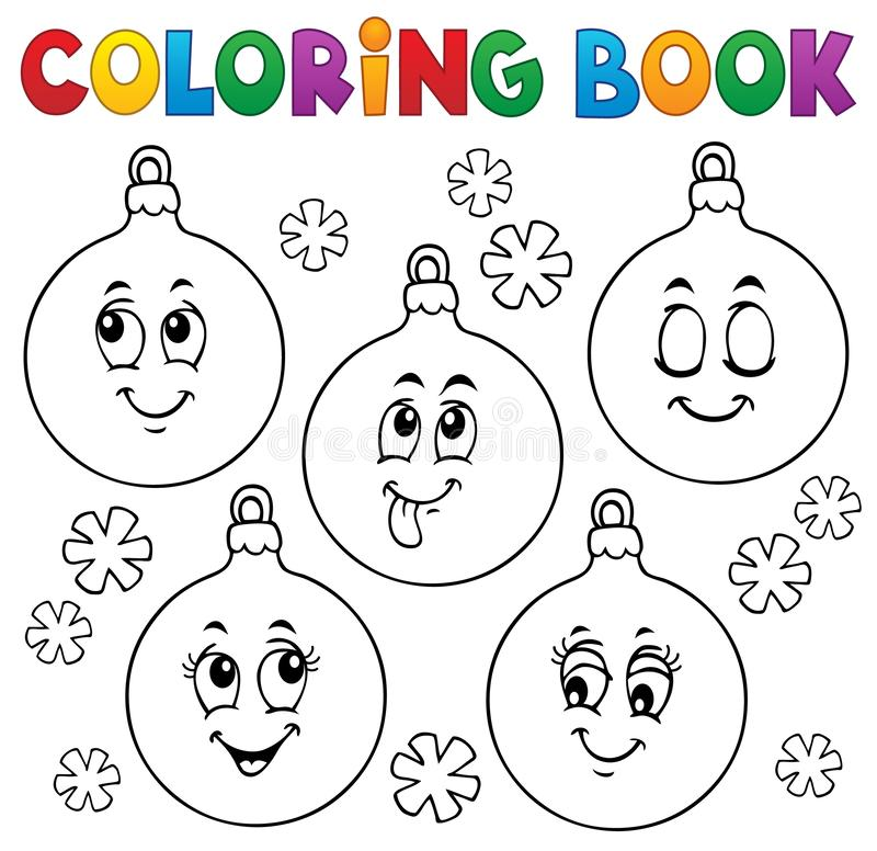 Free Coloring Book Christmas Ornaments 1 Stock Photos - 165130143