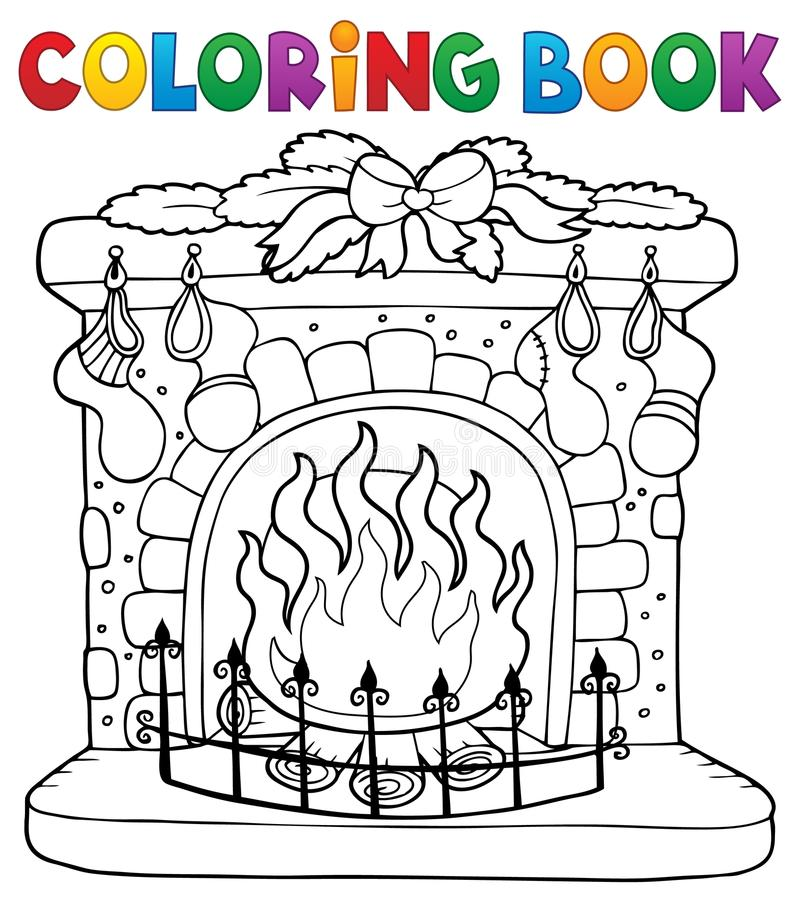 Free Coloring Book Christmas Thematics 6 Royalty Free Stock Images - 101093869