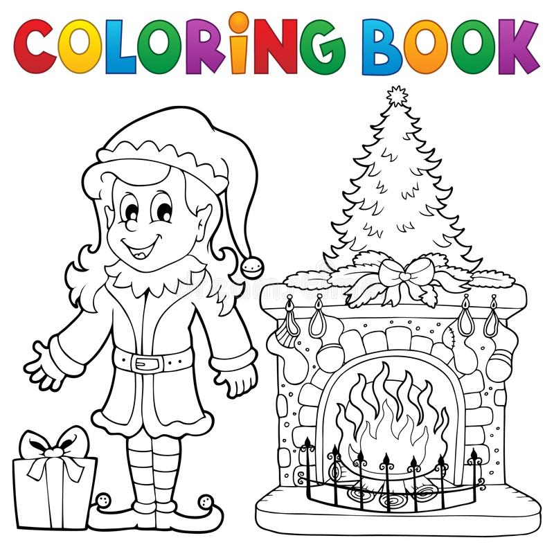 Coloring book Christmas thematics 7 stock illustration