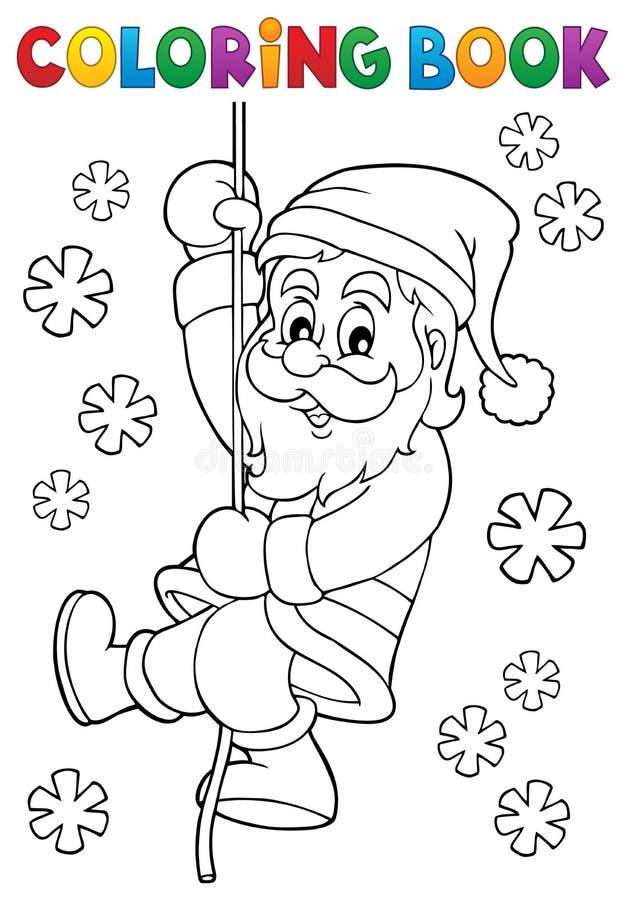 download coloring book climbing santa claus stock vector illustration of artwork colouring 101281506 - Santa Claus Coloring Book