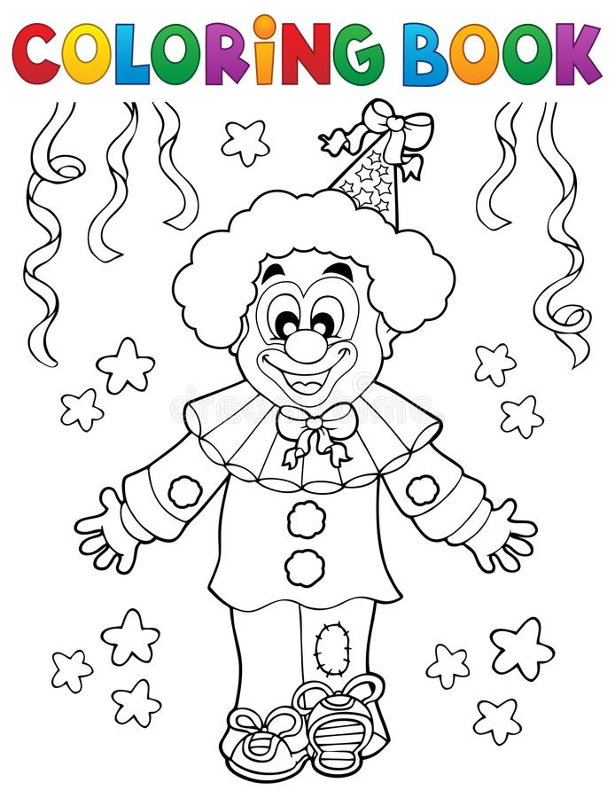 Free Coloring Book Clown Thematics 2 Royalty Free Stock Photo - 105448105