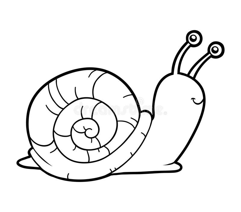Coloring Book, Coloring Page (snail) Stock Vector ...