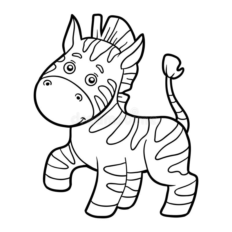 Coloring Book, Coloring Page (zebra) Stock Vector - Illustration of ...