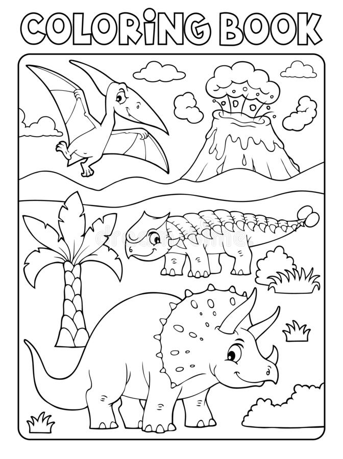 Free Coloring Book Dinosaur Subject Image 6 Stock Images - 183492924