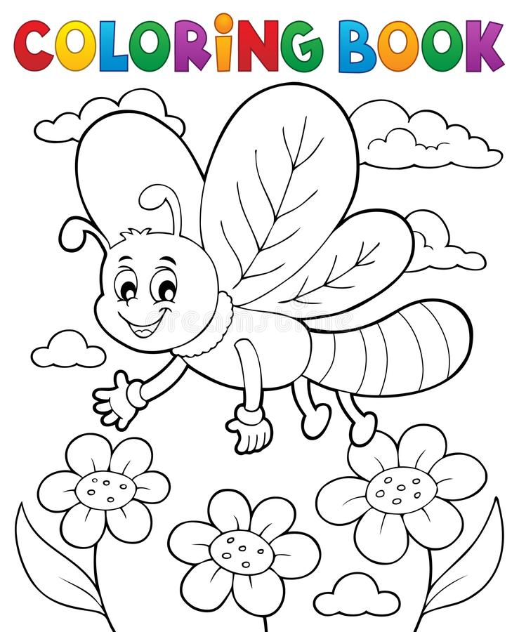 Free Coloring Book Dragonfly Theme 1 Stock Photos - 111927173