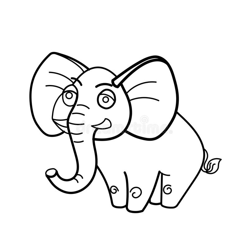 Download Coloring Book Elephant African Animal Cartoon Stock Vector
