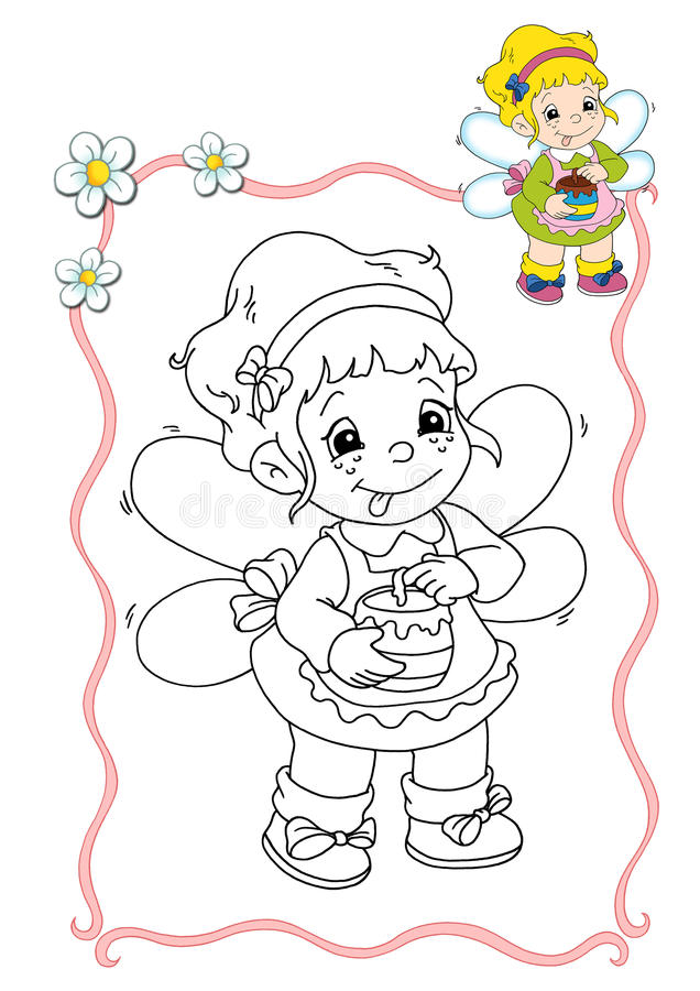 Coloring book - fairy 9 royalty free illustration